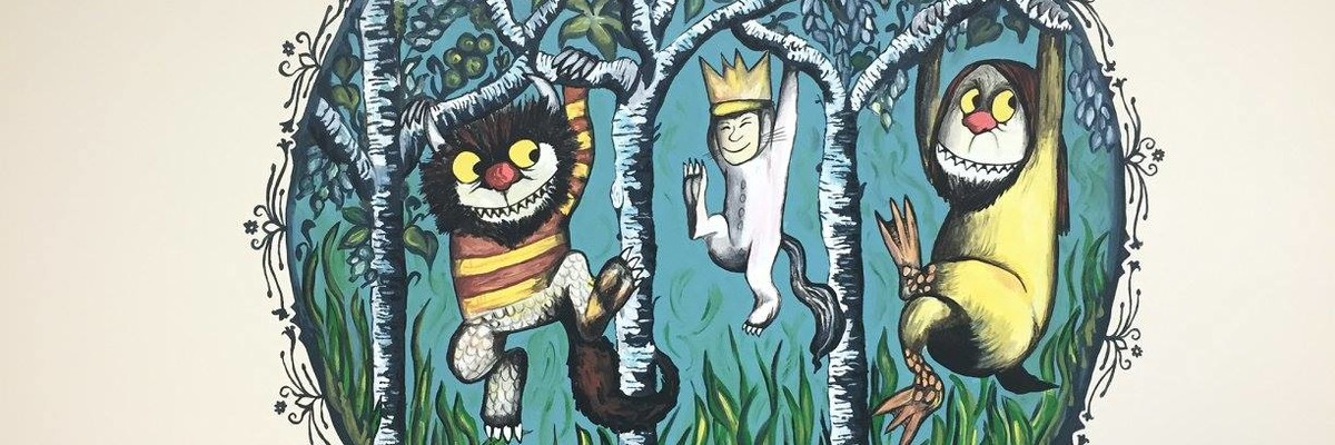 Where the Wild Things Are mural in the Appleby Garden Level Lactation Room